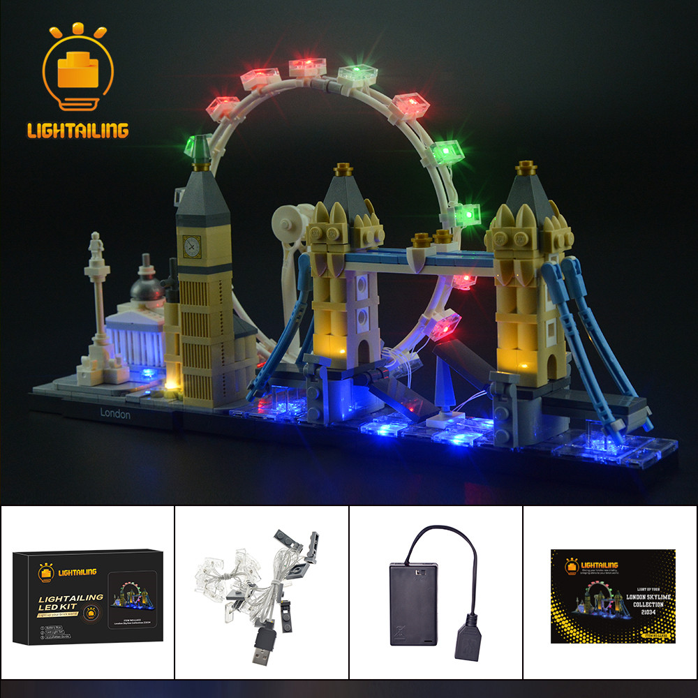 LIGHTAILING LED Light Kit For Architecture London Light Set Compatible With 21034 NOT Include The Model
