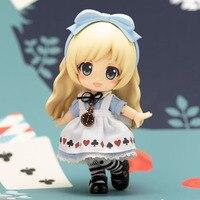Movie Alice In Wonderland Action Figures Toys Cute Cartoon Alice Figuras Dolls Nendoroid Brinquedos Gift Q Ver. 10cm