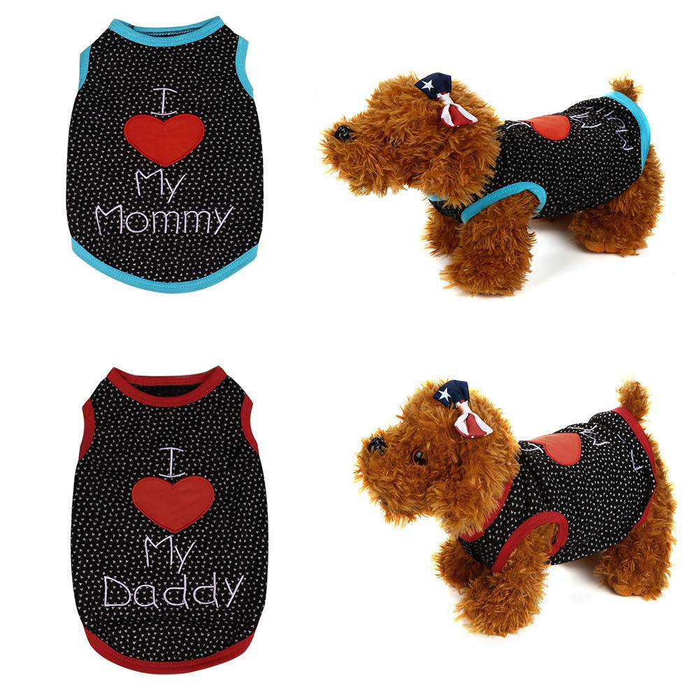11.11 XS/S/M/L Small Pet Dog Clothes Fashion Costume Vest Puppy Cat Apparel T-Shirt Sleeveless #01
