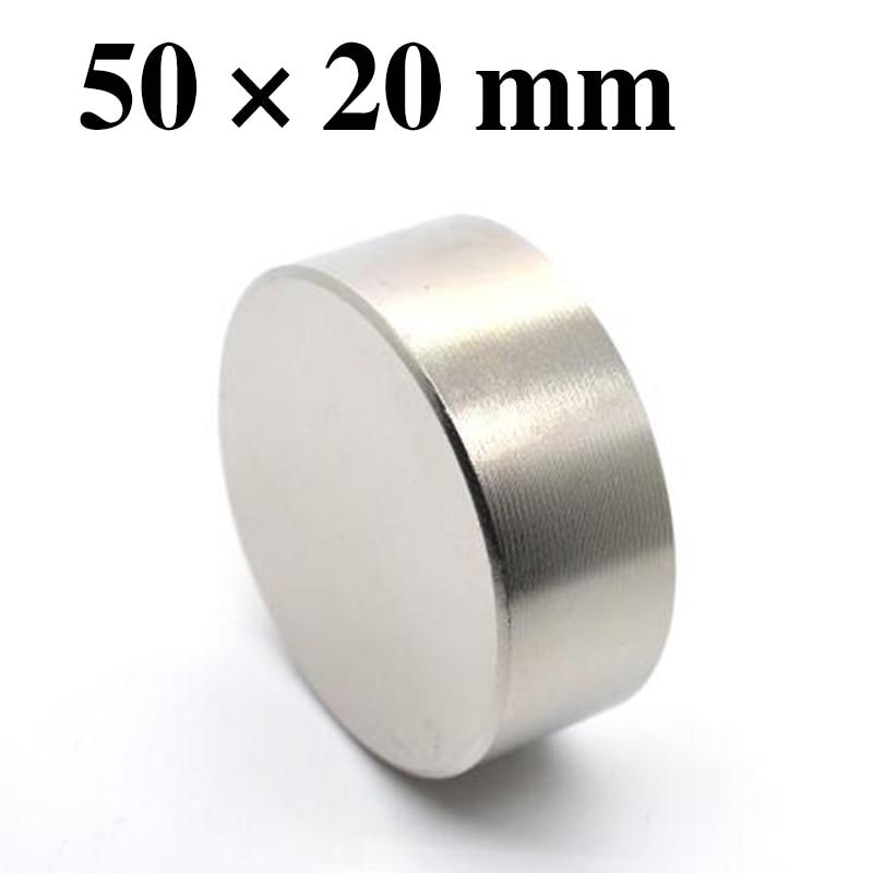 HYSAMTA 1 pz/lotto N50 Magnete Al Neodimio 50*20mm Piccolo Disco Rotondo Magneti Super Strong 50X20mm magneti