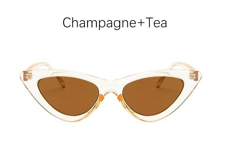 cat eye shade for women fashion sunglasses brand woman vintage retro triangular cateye glasses oculos feminino sunglasses Sexy 11