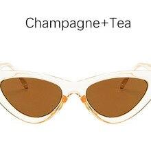 346b9694fd Gato sombra de ojos para las mujeres gafas de sol de moda mujer de marca  vintage retro triangular cateye gafas oculos feminino g.