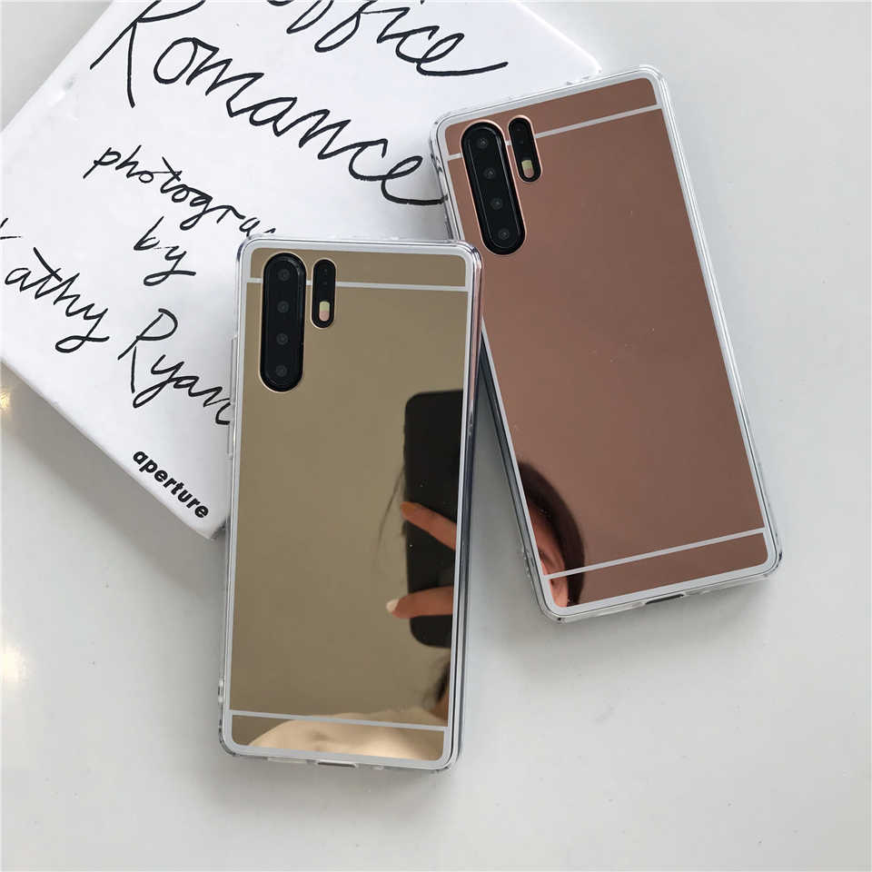 For Huawei P30 Pro P20 P10 Lite Mate 20 10 Nova 3 4 Cover Mirror Case Cute Soft TPU Silicone Cover For Honor Play 9 8X P Smart