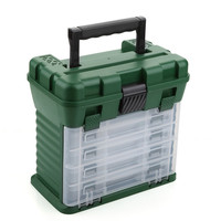 5 Layers Portable Fishing Box, Handle Plastic Hooks Paits Lures Storage Case, Fishing Tackle Organizer, Fly Fishing Suitcase