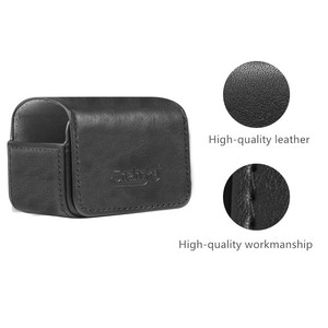Image 4 - leather Bag Portable case Magnetic switch storage bag for dji osmo action sport camera Accessories