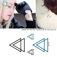 2 Pcs Promotion Men Disposable Waterproof Small Tattoo Stickers And Fresh Hc1107