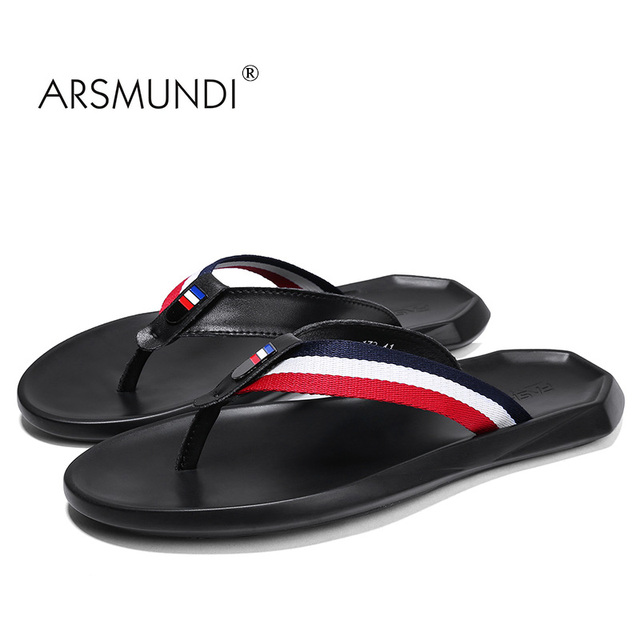 Arsmundi 2018 New Summer Bathroom Slippers Men Non Slip Outside Home Slipper Outdoor Flip Flops