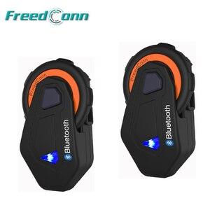 Image 1 - 2Pcs T Max Motorfiets Groep Talk Intercom Systeem 1000M 6 Riders Bt Interphone Bluetooth Helm Headset Bluetooth 4.1 W/Fm Radio