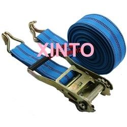 2.5 , 55mm, 5tx4m--6m, catraca amarra para baixo carga amarração pacote transporte cinta fivela de automóvel cinto de embarque montagem sling