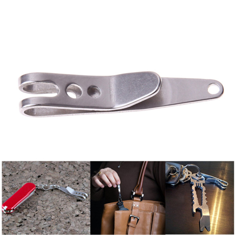 EDC Bag Suspension Clip With Key Ring Carabiner 301 Stainless Steel Outdoor Quicklink Tool Multi Tools Pocket Camping Key Ring