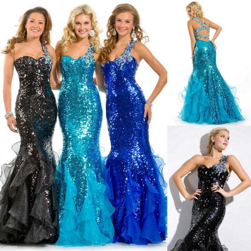 rhinestone prom dresses 2016 mermaid style prom gowns custom made ...