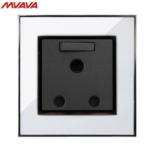 MVAVA 15A 3 Round Pin Switched Socket South Africa Standard Outlet With 1 Gang Wall Receptacle Luxury Mirror White Free Shipping uk double 1 gang 3 pin 15a socket 2017 hot sale china manufacturer wallpad luxury wall outlet