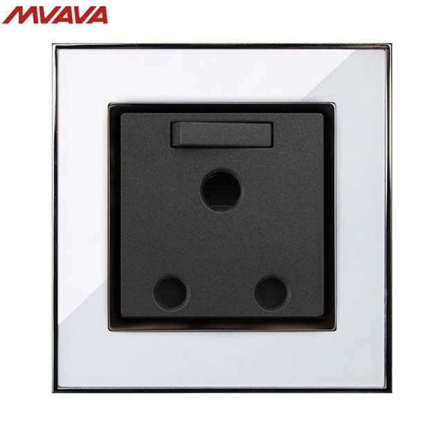 MVAVA 15A 3 Round Pin Switched Socket South Africa Standard Outlet ...