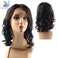 13*4 Синтетические волосы на кружеве человеческих волос парики для черный Для женщин 180% Плотность предварительно сорвал волосы младенца сво