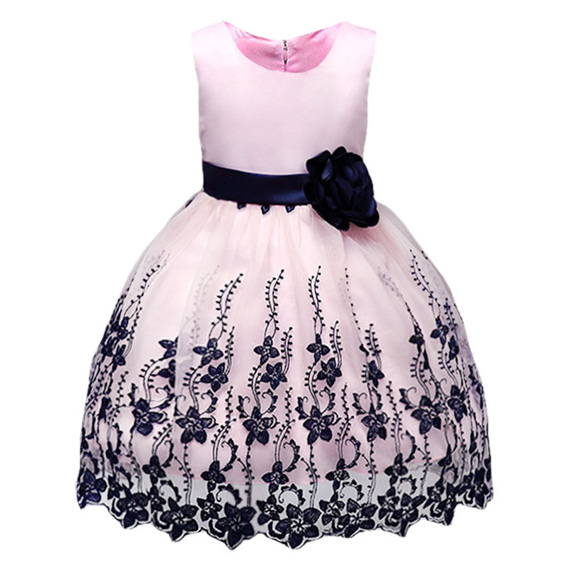 Summer children clothing Girl floral Princess Party Dress Lush Ruffle Children kids dres ...