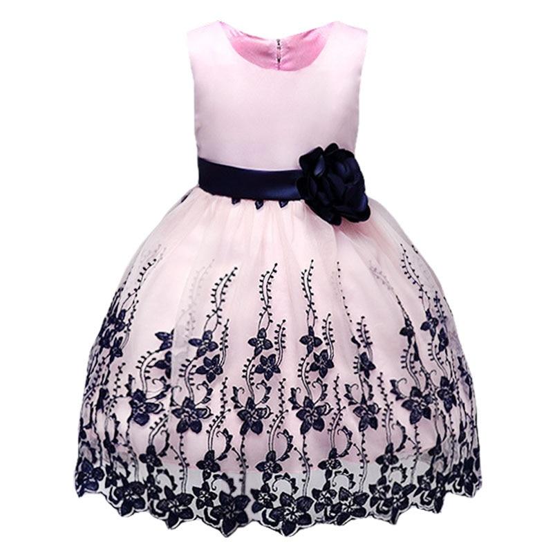 Summer children clothing Girl floral Princess Party Dress Lush Ruffle Children kids dres ...