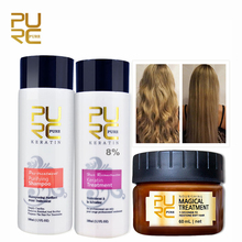 PURC 8% Formalin Straightening and Repair Damage Hair Brazilian Keratin Treatment and 5 Seconds Make Hair Soft Magical Hair Mask
