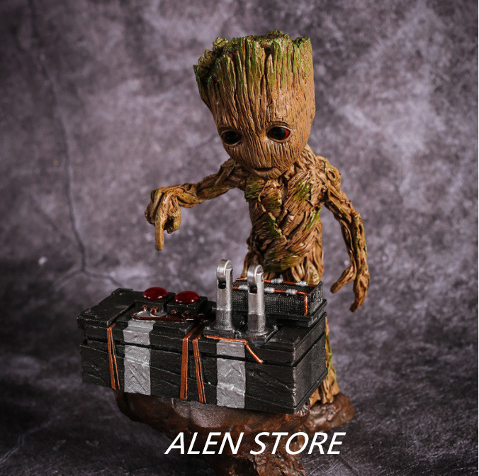ALEN Guardians of the Galaxy 2 DJ Tree Man Statue Resin Figure Collectible Model Toy 17cm new arrivals hote cute guardians of the galaxy 2 groot statue figure collectible model toy 9 types children gifts