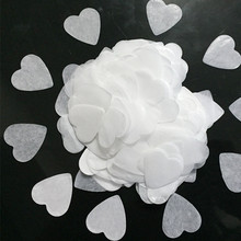 1000 шт., бумажные салфетки в форме сердца с конфетти