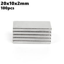 Strong Block Neodymium Magnets 20x10x2mm N35 Rare Earth NdFeB 100pcs 20x10x2 Super Powerful Magnetic Bar Magnet
