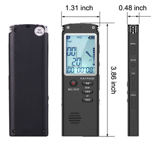 Image 2 - 003 Escytegr Draagbare Dictafoon 1536Kbps Voice Activated Opname Meeting/Lezing/Interview/Trial Music Play Voice Recorder
