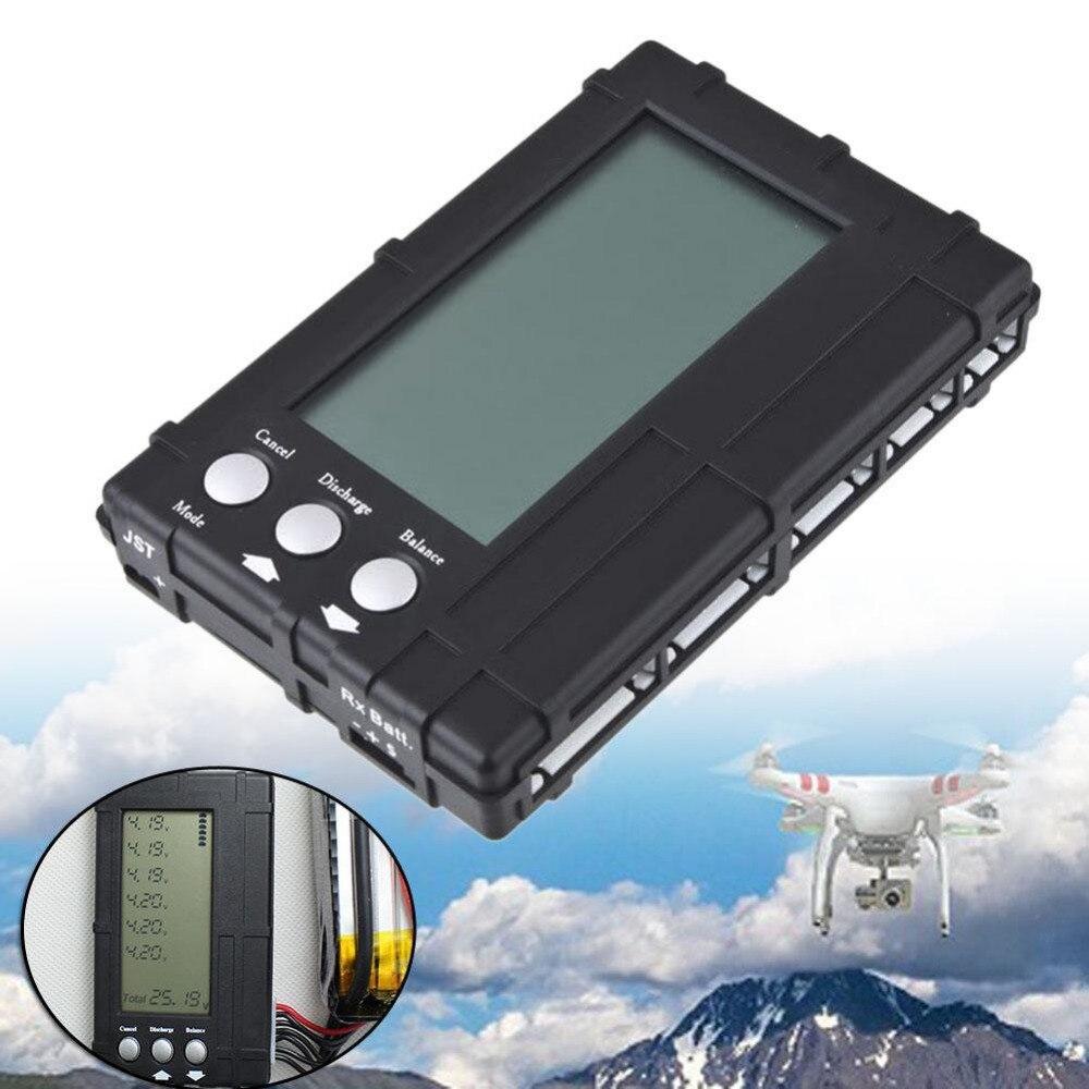 3 в 1 ЖК-дисплей разрядник балансировки метр тестер для 2-6 S липо литий-fe батареи черный