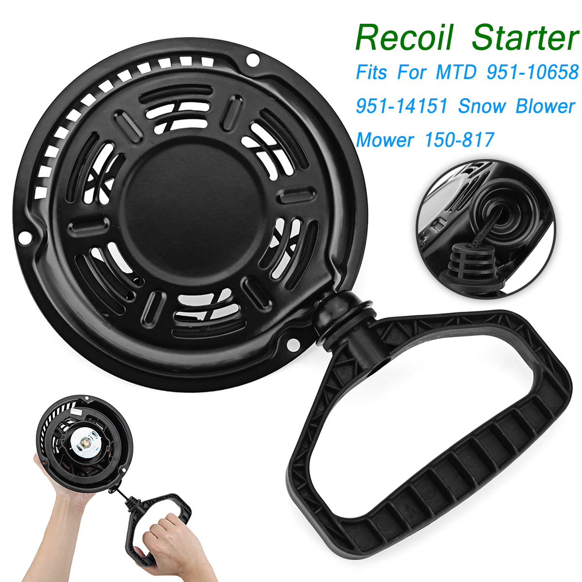 цена Recoil Pull Starter Assembly Fits For MTD 951-10658 951-14151 SNOWBLOWER Stens 150-817 for Snowblower Mower