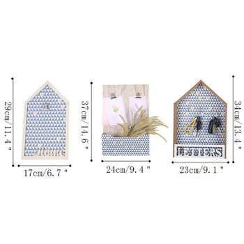 Nordic Moderne Innenwand Dekoration Kreative Nachricht Bord Ornamente Holz Haus Lagerung Rack-Shop Tür Wand Hängen Geschenke