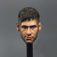 New 1 6 Scale Barcelona Neymar Head Carved Football Star Soldiers For 12 Figure Doll Toys