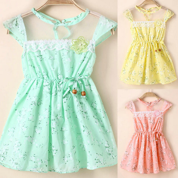 Baby Newly Baby Girl Floral Tunic Princess One-piece Toddler Summer Holiday Dress