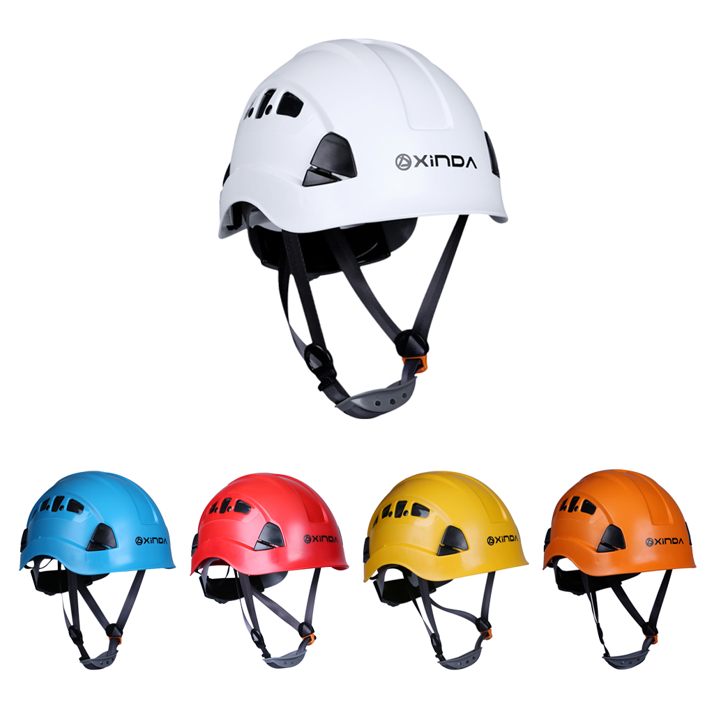 Professional Rock Climbing Helmet Caving Rappelling Rescue Hard Hat Outdoor Sports Safety for Horse Riding Kayaking Surfing multifunctional professional handle pulley roller gear outdoor rock climbing tyrolean traverse crossing weight carriage fit
