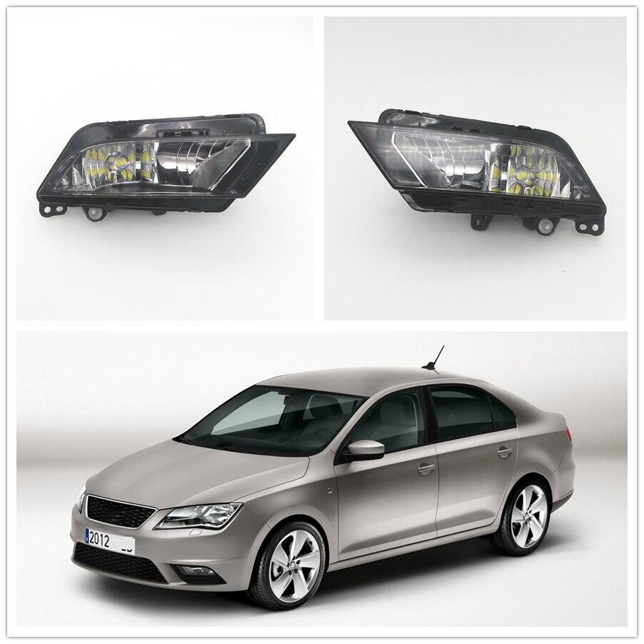 Car LED Light For Seat Toledo 2013 2014 2015 2016 2017 Car-styling Front Bumper LED Fog Light Fog Lamp
