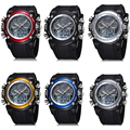 Children Watches Dual Time Multifunctional LED Digital Quartz 30m Waterproof Swim Kids Student Sports Watch 6COLORS