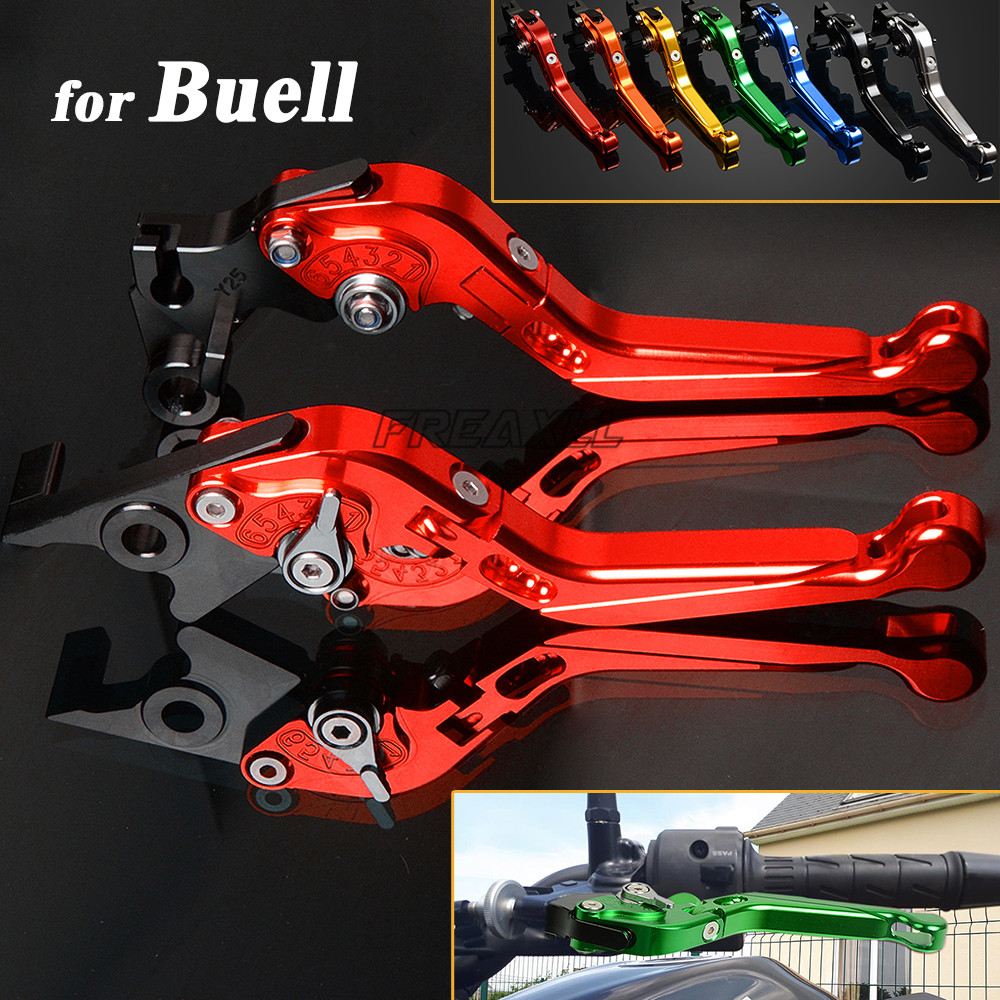 CNC Aluminum Motorbike Levers Motorcycle Brake Clutch Levers Foldable Extendable Adjustable For Buell XB12 XB 12 2004 2008 in Levers Ropes Cables from Automobiles Motorcycles