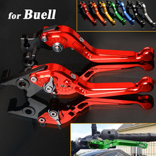 цены CNC Aluminum Motorbike Levers Motorcycle Brake Clutch Levers Foldable Extendable Adjustable For Buell XB12 XB 12 2004-2008