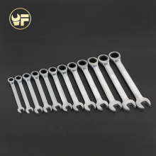 YOFE 12pcs 8-19mm Ratchet Spanner Combination wrench gear ring wrench ratchet handle tools Chrome Vanadium