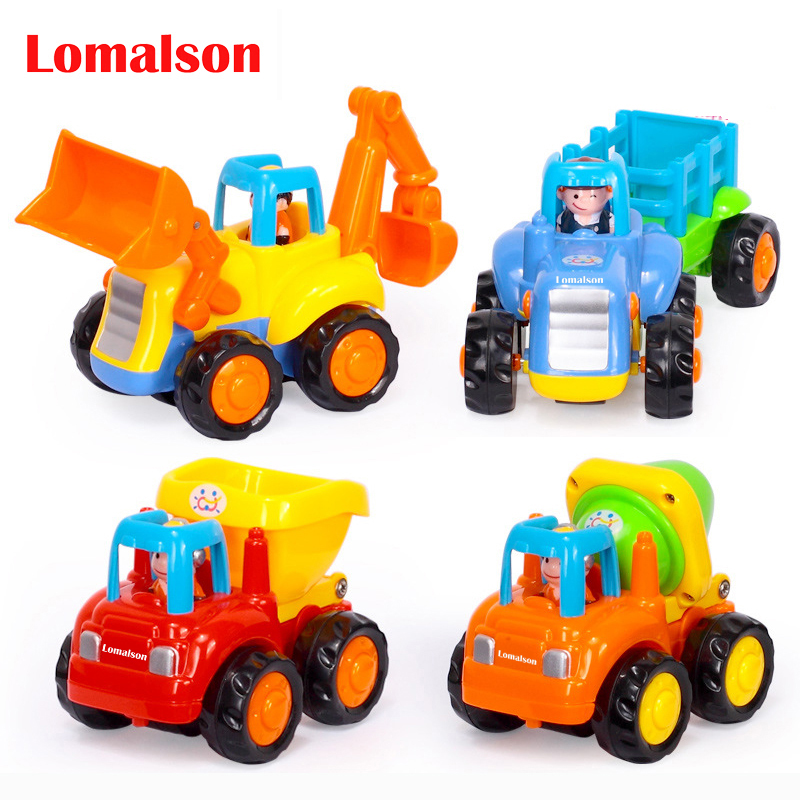 Active 4pcs/lot Car Toy Original Box Kids Beach Baby Toy Pull Back Cars Playing Toys Sand Tools Free Shipping Fine Workmanship Toys & Hobbies