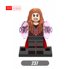 A sale of the new Marvel Superhero Avengers Alliance 3 Scarlet Witch Vision Building Blocks Legoingly Toy Brick Figures(China)