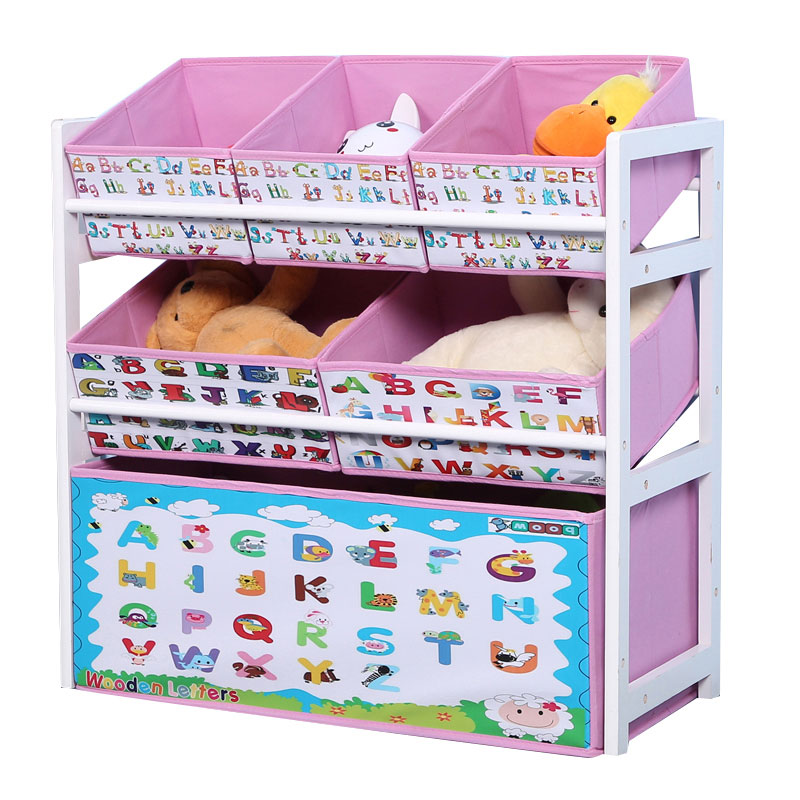 Louis Fashion Children Cabinets Solid Wood Toys Storage Finishing Shelves Children's Household Toys Storage #4