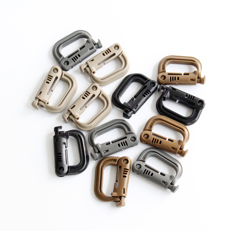 Tactical Grimloc Safety Safe Buckle MOLLE Locking D-ring Carabiner ClimbingTo