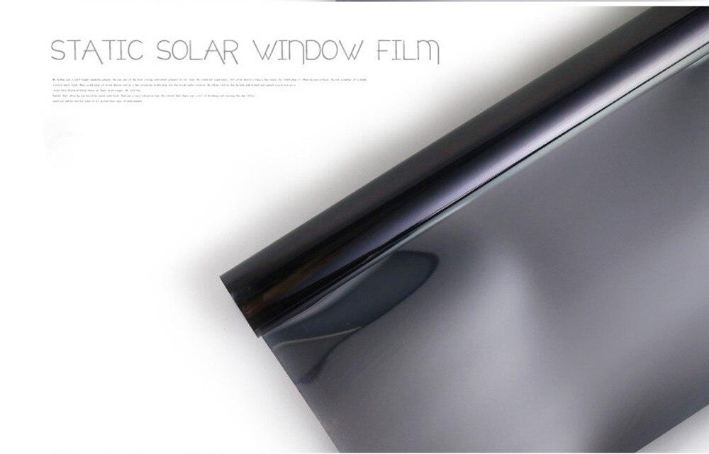90 cm x 500 cm PET économie d'énergie solaire fenêtre film, une façon film de La Vie Privée, contrôle de La Chaleur Anti UV Décoratif Feuille, Statique S'accrochent Aucune colle - 2