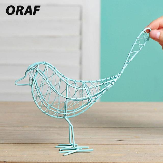 Metal Iron Wire Bird Hollow Model Artificial Craft Fashionable Home Furnishing Table Desk Ornaments Decoration Gift Drop Shiping 4