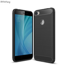 Фотография BYHeYang case For Xiaomi Redmi Note 5A case Redmi Note5A cover Carbon Fiber Brushed Hybrid Silicone back cover for Redmi Note 5a