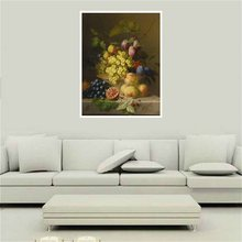 Handpainted HD Print Fruits Oil Painting Canvas Still Life Wall Art for Kitchen Home Decoration Artwork Gift Christmas 1pc
