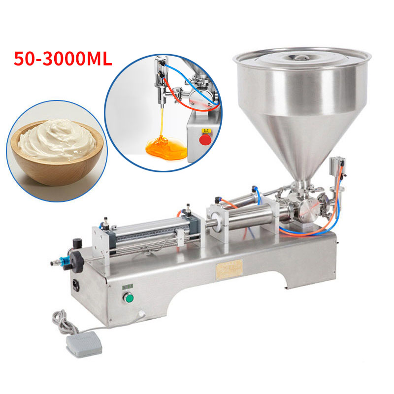 50-3000ML Electric Pneumatic Single Head Paste Filling Machine Bee Toothpaste Sauce Skin Care Product Filling Machine