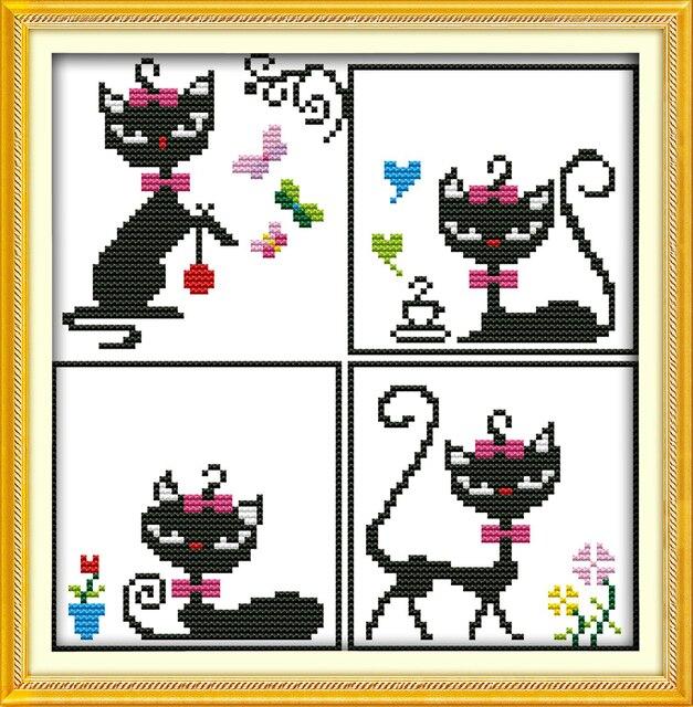 Alegría Domingo estilo de dibujos animados gato princesa cruz libre ...
