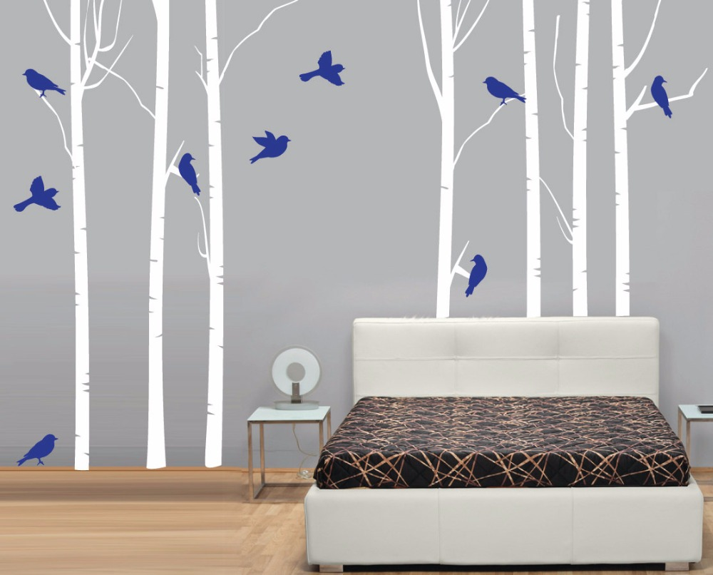 Tree Design Wallpaper Living Room Popular Birch Tree Wallpaper For Walls Buy Cheap Birch Tree