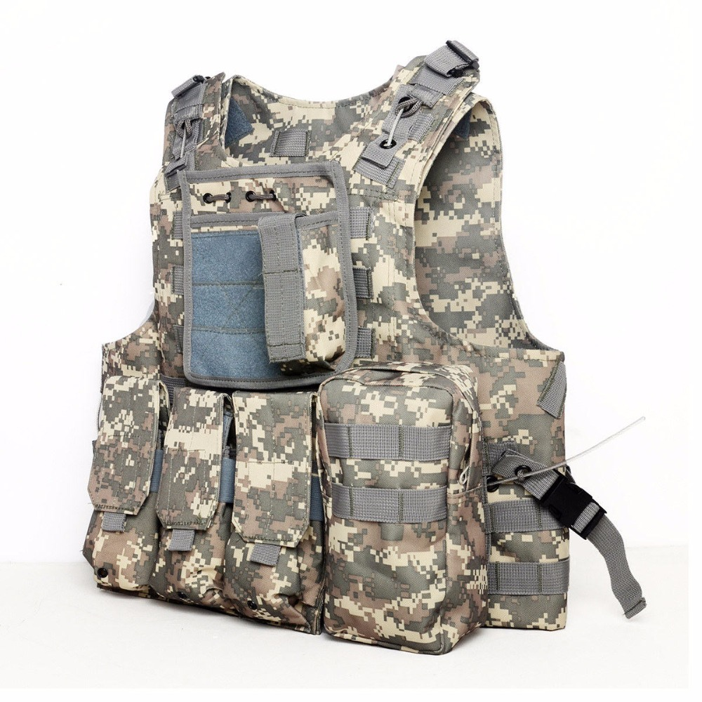 ФОТО New Camouflage Hunting Military Tactical Vest Wargame Body Molle Armor Hunting Vest Multifunction CS Outdoor Equipment 5 Colors