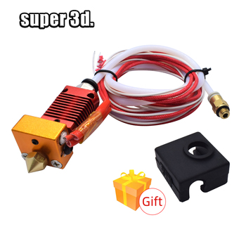 3D Full Metal J-head CR10 Hotend Extrude Hot End Kit for creality Ender-3/5 pro CR10 10s Bowden Extruder 12/24V 3D Printer Parts 3d printer parts cyclops 2 in 1 out 2 colors hotend 0 4 1 75mm 12v 24v fan bowden with titan bulldog extruder multi color nozzle