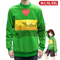 Undertale costume chara cosplay green adult costume top hoodies cosplay chara undertale